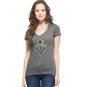 Seattle Sounders V-Neck Scrum Tee NWT